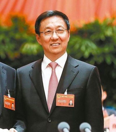 上海市委書記韓正。 中新社